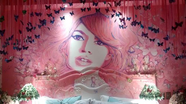 Une chambre de fille rose