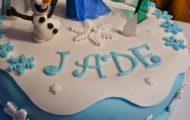 Exemple de gâteau d'anniversaire La Reine des Neiges